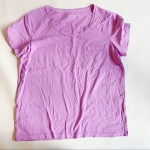 J. Crew Tops - J. CREW Purple Chest Pocket Garment Dyed Tee M